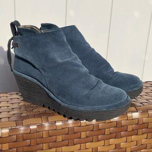 Fly London Yebi Suede Ankle boots Tie Ocean 38